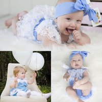 Wholesale Cute Lace Rompers - Ins Summer Baby Infant Rompers Lace Sleeveless Toddler Newborn Girls Kids Foral Jumpsuit Cute Clothes Climbing Romper 2017