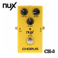 Wholesale Pedal Multi - Top Quality NUX CH-3 Violao Guitar Guitarra Electric Effect Pedal Chorus Low Noise BBD True Bypass Yellow Musical Instrument