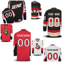 Wholesale China Nhl - Custom Ottawa Jersey Third Black Embroidery logos Personalized Customized Your Name Number blank hockey jerseys Cheap china nhl