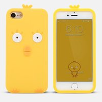 EA PHUNDAS Para iphone 7 case 7 plus Anime 3D Cute Duck pollo amarillo de dibujos animados de silicio fundas suaves para iphone 6 case 6 6 s 6 plus envío gratis