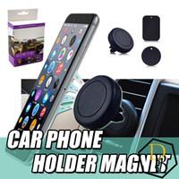 havalandırma delikli cep telefonu tutacağı toptan satış-Manyetik Dashboard Araba Hava Firar Cep Telefonu Montaj Tutucu Iphone 5 s 6 s 6 splus Samsung S3 S4 S5 S6 s7 Tüm telefonlar için