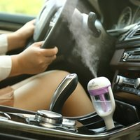 Wholesale Mini Portable Car Use Air Humidifier Ultrasonic Essential Air Atomizer Diffuser Wave Air Filter Mist Maker Car Charger