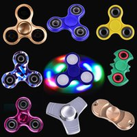 Wholesale Cube Aluminum - Colorful Fidget cube Decompression Toy led light metal Aluminum Fidget spinner American decompression anxiety Toys DHL FREE oth331
