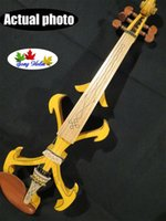 Wholesale Best model crazy SONG art streamline strings yellow electric violin