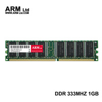 Wholesale Ram 1g Ddr - ARM Ltd DDR1 DDR 1 gb pc2700 ddr333 333MHz 184Pin Desktop ddr memory CL2.5 DIMM RAM 1G Lifetime Warranty
