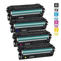 Wholesale Hp Toner For Wholesale - EBY 4 pack Compatible Toner Cartridge Replacement for HP 508X CF360X , CF361X , CF362X ,CF363X WithHP Color LaserJet Enterprise M552dn