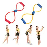 Wholesale Muscle Resistance Exercises - Resistance 8 Type Muscle Chest Expander Rope Workout Pulling Exerciser Fitness Exercise Tube Sports Yoga new the same strength