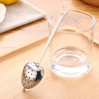 """Wholesale Tea Infuser Spoons Heart Wholesale - 2017 Hot Spring """"Tea Time"""" Convenience Heart Tea Infuser Heart-Shaped Stainless Herbal Tea Infuser Spoon Filter Free Shipping"""