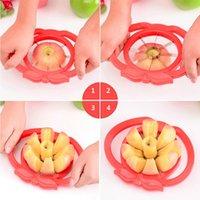 birnenkerne großhandel-Apfelschneider Corer Wedge Cutter Birnenfrucht Divider Pie Comfort Handle einfach Cutter Apfel-Birnenfrucht Slicer Kostenloser Versand