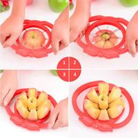 cortador de pera venda por atacado-Apple Slicer Cortador De Cunha Corer Pear Fruit Torta Divisor de Conforto Lidar com cortador de frutas maçã-pera fácil cortador Frete grátis