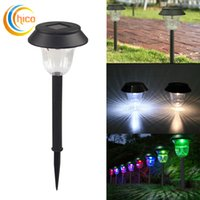 Wholesale Stainless Deck Light - Solar Lawn Lamp Stainless Steel Led Garden Lights Outdoor Landscape Lighting waterproof led solar lights for Patio Yard Deck