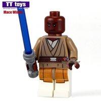Wholesale Mace Wholesale - WholeSale 20pcs STAR WARS Rogue One Jedi Master Mace Windu Darth Vader C-3PO Minifigures Assemble Building Blocks Kids Xmas Gifts Toys