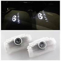 Wholesale Car Led Show Lights - 2X LED Car Door Lamp Ghost shown Logo Lights for Infiniti FX37 FX50 FX35 G37 G25 G35 M25 EX QX56 QX50 QX70 QX80