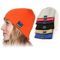 apfelhüte großhandel-Bluetooth-Hut-Musik Beanie-Kappe Bluetooth V4.1 Stereo-drahtloser Kopfhörer Lautsprecher-Mikrofon-Freisprecheinrichtung für IPhone 7 Samsungs-Galaxie S7 Musik-Hut
