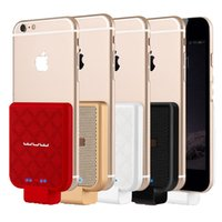 Wholesale External Battery Back - Powerbank External Backup Battery Charger Power Back Cover For iphone 7 \7 plus \6\6S 6plus \ 6S plus