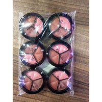 Wholesale Eye Shadow Small Palette - Matte eye shadow palette make-up ultra-light 3-color small disc eye shadow cosmetics NET: 1.8g 48 PCS   SET