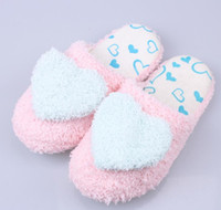 Wholesale Padded Appliques Hearts - Lovely Creative Design Women Ladies Home Use Floor Slippers Indoor Girls Cotton Padded Heart Decoration Female Warm Shoes G969