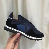 Wholesale Gingham Buttons - Designer Brand Camouflage Camo Suede Studded Sneaker Shoes Women,Men Trainers Casual Walking Flats 36-46 With Box