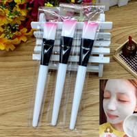 Wholesale Diy Mask Brush - Facial Mask Brush DIY Makeup Brushes Eyes Face Skin Care Masks Applicator Cosmetics Home DIY Facial Eye Mask Use Tools Clear Handle WX-B104