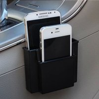 Wholesale Cell Phone Storage Boxes - Wholesale-Multifunctional Black Car Cell Phone Holder Black Mobile Phone Charge Box Holder Pocket Car Seat Bag Storage Organizer