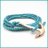 Wholesale Infinity Charms 5pcs - Free Shipping Bracelets with MIANSAI logo 5pcs  lot Anchor bracelets Infinity braided bracelet Wrap Rope Charm Fish Hook With Paracord