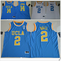 Wholesale Pro Teams - UCLA Bruins #2 Lonzo Ball 14 Zach LaVine PAC-12 Mens American College Stitched Embroidery Basketball Uniforms Shirts Sports Team Pro Jerseys