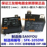 Wholesale 5vdc Relay - Free shipping lot(10pieces lot)100%Original New SANYOU SFK-105DM 5VDC SFK-106DM 6VDC SFK-112DM 12VDC SFK-124DM 24VDC 4PINS 20A Power Relay