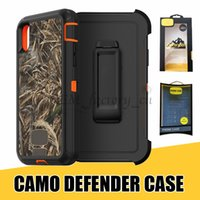 Wholesale Iphone Defender Series - Defender Series Camo Cover Case for iPhone X Multi-layer Covered with Belt Clip 360 Degree Cover Shell for Samsung Note8 with Retail Package