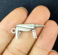 Wholesale Antique Saucer - 30pcs-Antique Silver Drill Cup and Saucer 3D with Enamel Egg Frying Pan Coffee Cup Charms Pendant 2 Sided Connector DIY Charm Jewelry Making