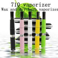 Wholesale Ecig Ego Starter Kit - Dab Pen vape vaporizer Wax Concentrate Atomizers 710 vaporizer Pipe starter kit ego ecig smok wax pen