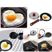 Mini Cute BBQ Outdoor Cuore a forma di non-stick Egg Fry Friggente Pan fritto Omelette Pancake Housewares Cucina Cauldron Pot