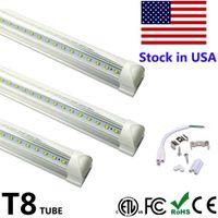 Wholesale Ft Power - LED Tube T8 Foot 8 ft 8ft High Lumen LED Tubes Light V Shape Integrate Double Side Power Cooler Door Lighting SMD2835
