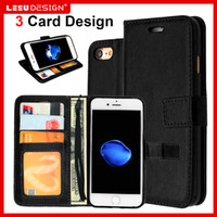 Wholesale Card Cash Wallet - Wallet PU leather case for iphone 7 plus s7 edge Wallet case cover pouch with photo frame cash slot stand flip for iphone 6s plus A5 j3 2016