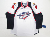 Wholesale Men S Spitfire - Taylor Hall Windsor Spitfires White Hockey Jersey stitched Customized Any Name And Number Jerseys