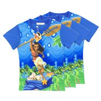 Wholesale Top Fashions Beauty - Children T-shirts 2017 Summer Fashion Kids Clothes Moana Beauty and the Beast Tops for Kids Baby Clothes Girls boys Costume