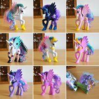 Wholesale Small Figurines - New 14CM My Little Pny12 A Small Ma Baoli Hand Girl Unicorn Doll Cake Decoration Gift Toys for Children Super Unicorn Figurine Models