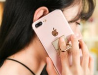 ücretsiz cep telefonu yüzükleri toptan satış-Ücretsiz kargo 360 derece dönen Yapıştır tipi halka toka cep telefonu tablet genel Cep Telefonu Mounts