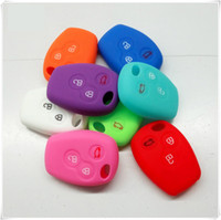Wholesale Key Remote Case For Renault - Renault button 3 Key Case Cover Remote Silicone Shell For Renault Scenic key Shell Accessories Car Styling