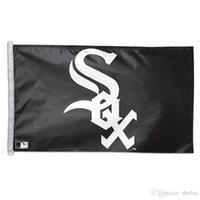 Wholesale Chicago White Sox Flag Baseball Team Flag Baseball Club Fan Flags Cool Black White Banner Champion Celebration Flags Party Supplies