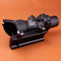 Wholesale Tactical Illuminated - 2017 NEW ACOG 4X32 SCOPE Fiber Source Red Green Illuminated Scope Black Tan Color Tactical Riflescope
