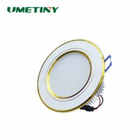 Luces De Techo Led 7w Al Por Mayor Baratos-Venta al por mayor- UMETINY cambiable 7W LED Downlight ronda de aluminio de techo de oro lámpara AC85-265V LED Down luz empotrada interior de lámparas de luz Spot