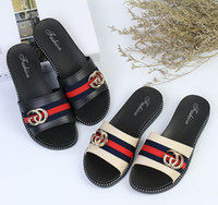 Wholesale Korean Fashion Slippers - New Summer Women slippers outside wearing wild fashion Korean version of the word flat drag slippers shoes