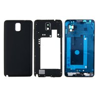 Wholesale Note Housing Case - 100PCS Original Phone Full Housing Bezel Cover Case shell for Samsung Galaxy Note 3 N900 N9005 Repair Parts free DHL