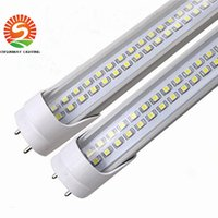 Wholesale T8 14w - 2ft 4ft Led T8 Tubes Light Double Rows smd2835 Chips 14W 28W T8 Led Tubes Warm Cold White AC 110-240V
