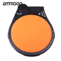 Wholesale Practice Drum Pad Electronic - Wholesale- Cherub DP-950 Multifunction Drum Pad Digital Electric Electronic Drum Pad Metronome Counter for Training Practice High Quality