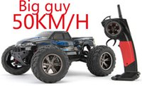 Wholesale 4wd Rc Trucks - Wholesale- New 1 12 scale Electric rc monster truck Off road 2.4Ghz 4WD high speed remote controlled car all included RTR