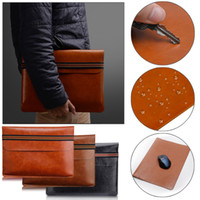 Wholesale Leather Bag For Notebook - PU Leather For MacBook Air Pro Retina 11 13 inch Laptop Bag Case Sleeve Computer Notebook Carry Bag For Macbook air Case Pouch