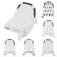 Wholesale Nurse Cases - Muslin Baby Car Seat Canopy Ins Cotton Carseat Covers Newborn Stroller Cover Breastfeed Nursing Covers Pushchair Case Blankets OOA2787