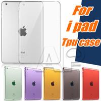 silikonabdeckung für ipad großhandel-Für ipad air2 mini 5/4 ipad pro tpu klar transparent soft case haut silikon rückseitige abdeckung slim für apple ipad6