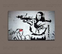 HD Canvas Print Banksy Graffiti Art Canvas Peinture Wall Picture Pour Salon Décor mural - Grand Canvas Art Cheap